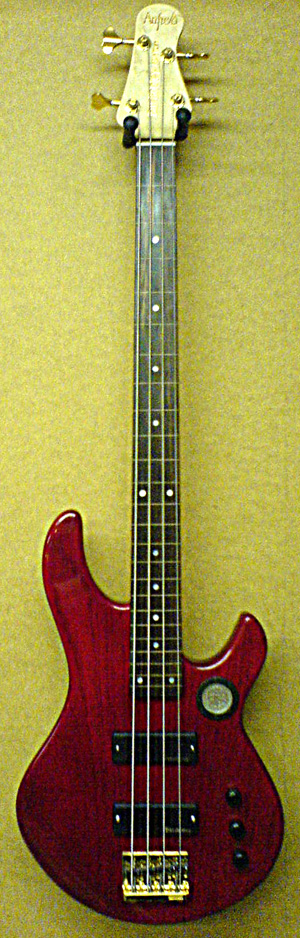 Fretless 4 string bass for Bill Hobley by Tom Anfield.