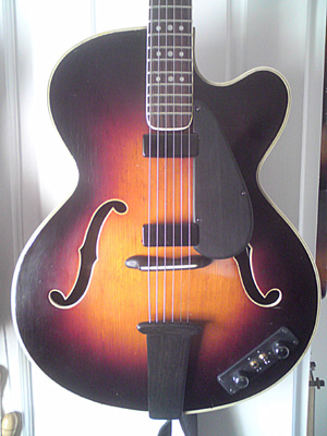1961 Hofner President Thinline restored and re-engineered by Tom Anfield.